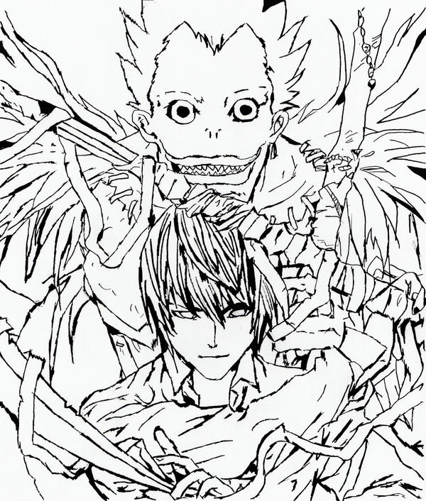 deathnote coloring pages - photo#28