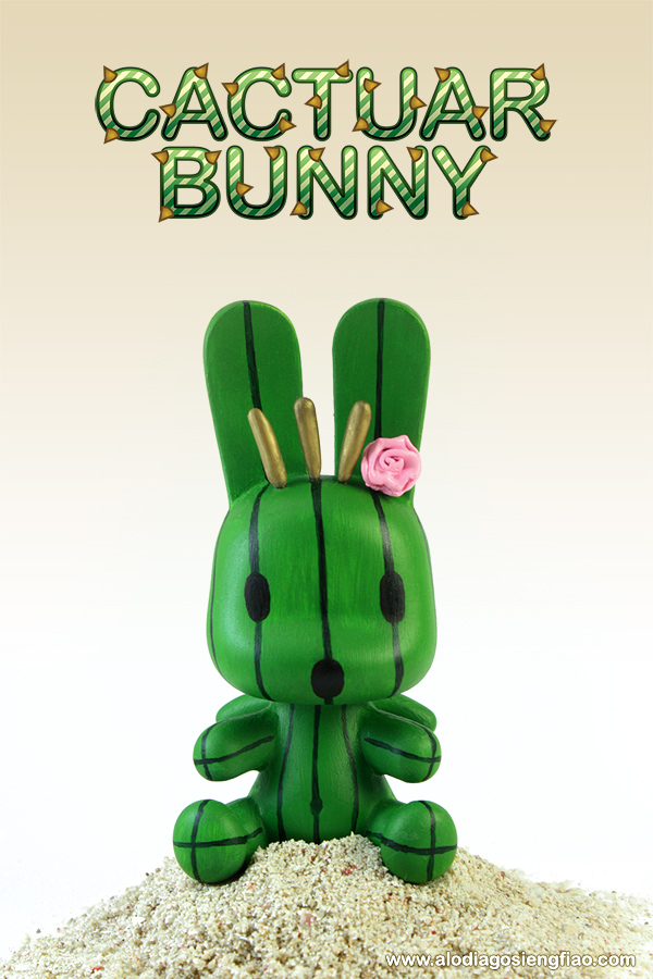 Cactuar Bunny by BlackMageAlodia