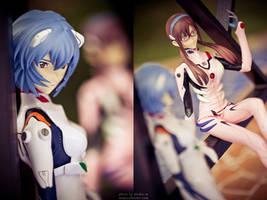 EVA: Rei and Mari by BlackMageAlodia