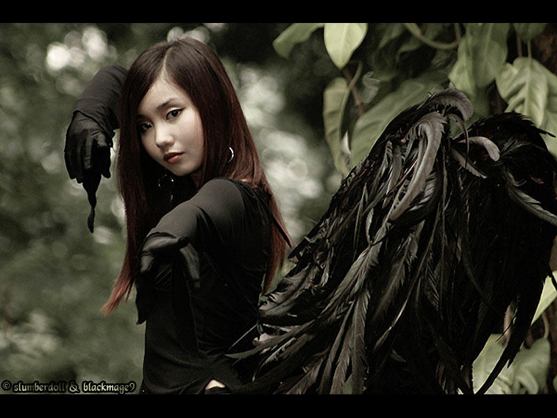 Goth Angel of Destruction by BlackMageAlodia