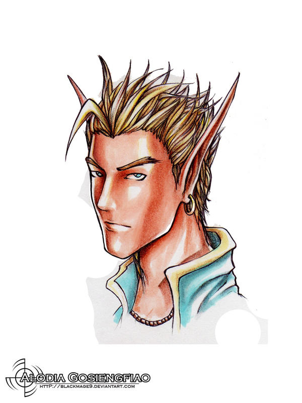 Male Elf by BlackMageAlodia