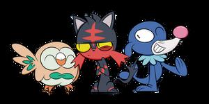 Pokemon Moon and Sun Starters