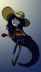 Marceline and her guitar