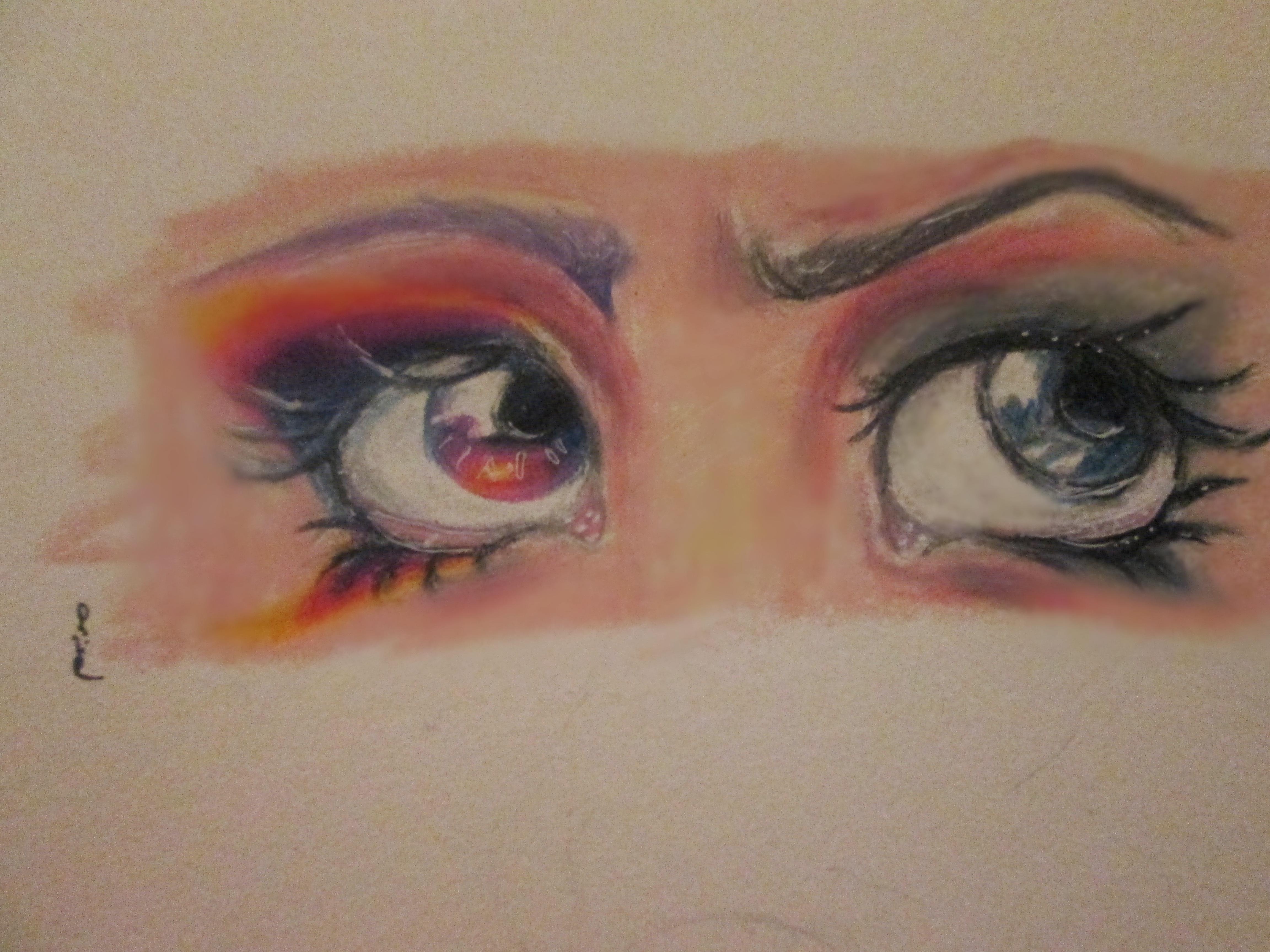 Semi-realistic eyes by purplemushroompoison