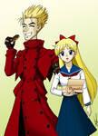 Vash and Minako dating by ArthurT2015
