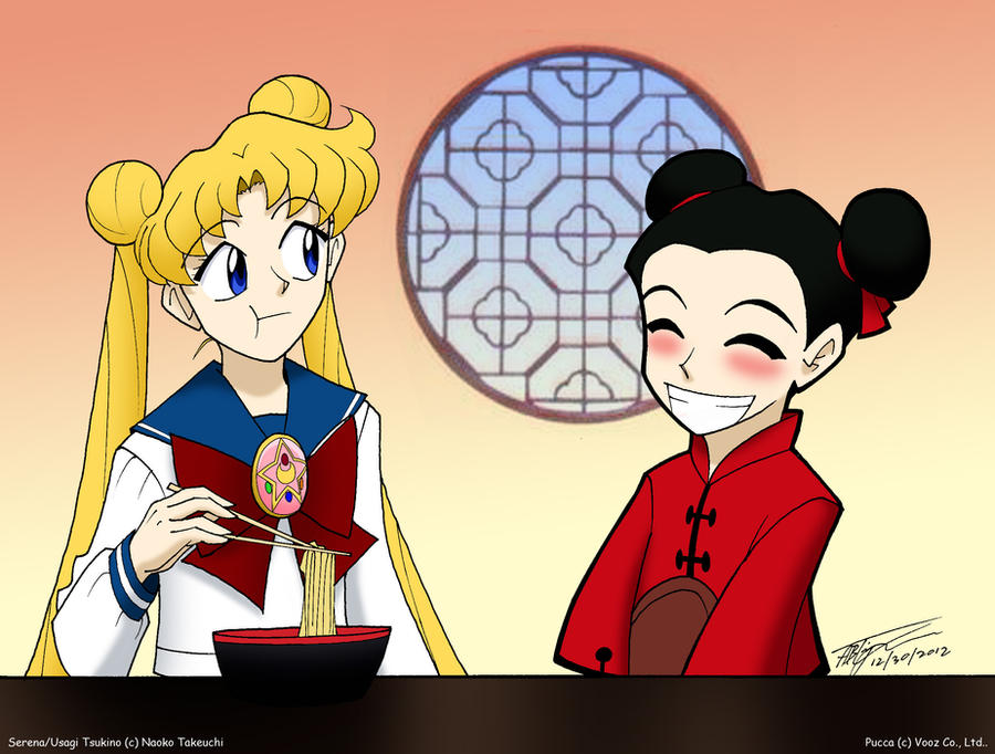 Serena and Pucca by ArthurT2015