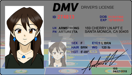 Arturetta's Driver's Licence