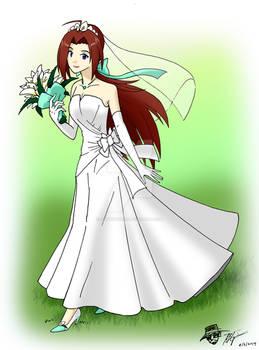 CM: Melanie in her Wedding dress