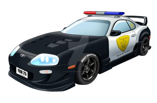 Toyota Supra police cruiser