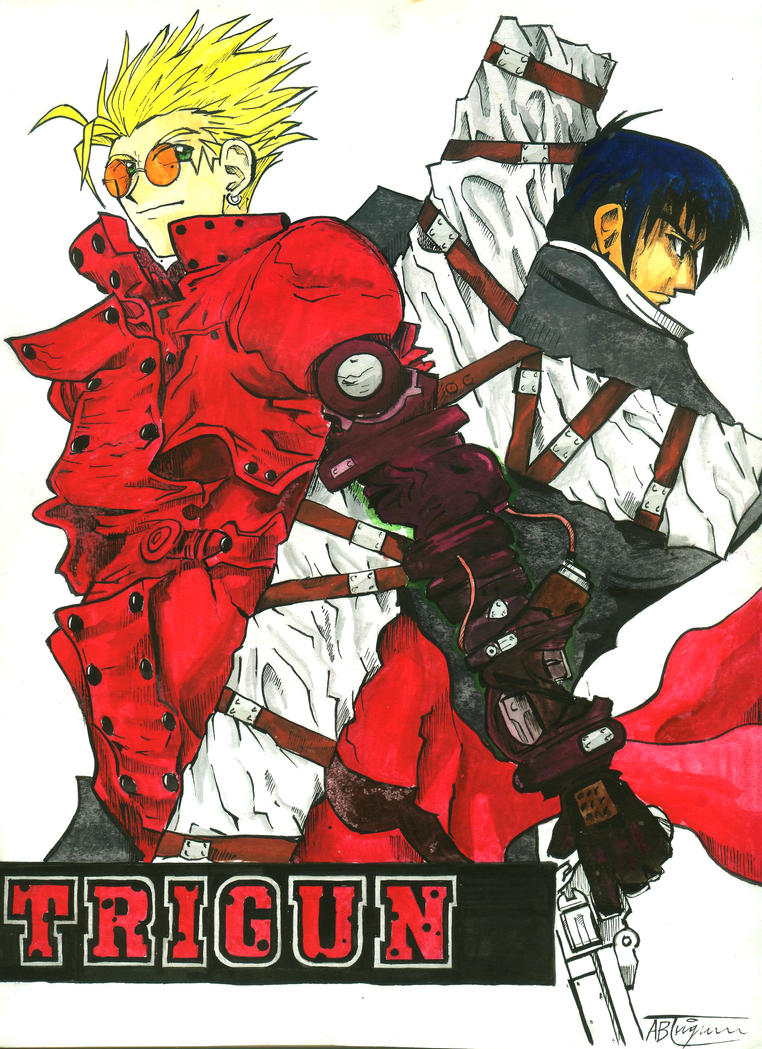 TRIGUNs Vash And Wolfwood By ArthurT2015