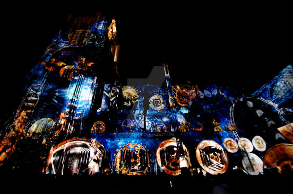 Light Show at Notre-Dame de Strasbourg by Yuki-Sasaki