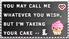 L + Cake stamp by the-emo-detective