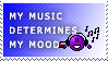 Music Determines My Mood stamp