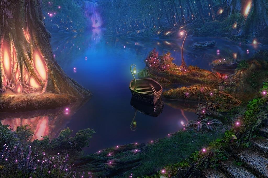 Biolumimiscent stagnum (Lago). Lakeshore_by_realnam-d6ohzlb