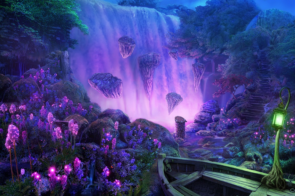 Biolumimiscent stagnum (Lago). Falls_by_realnam-d6ox85w