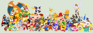 M's Smash Bros 4 Prediction Roster. by JandMDev