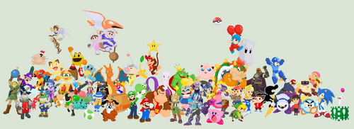 J's Smash Bros Roster by JandMDev