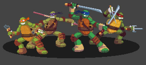 Teenage Mutant Ninja turtles J by JandMDev
