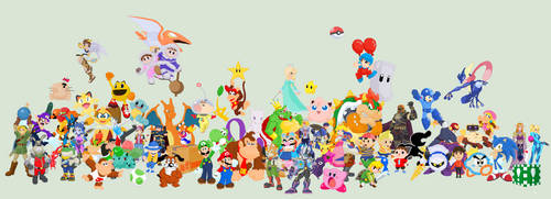 J S Smash Bros Roster edited version by JandMDev