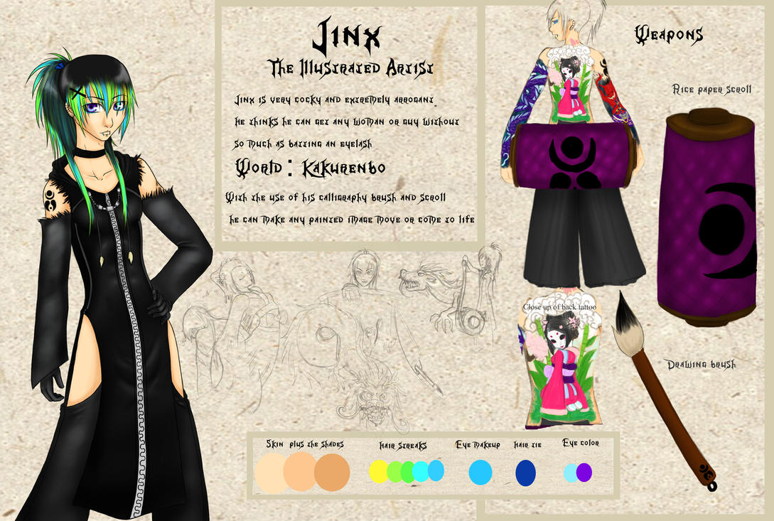 Jinx Character Sheet by MightyMaki