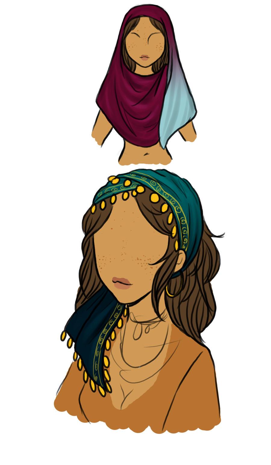 Sabine's scarves by MightyMaki