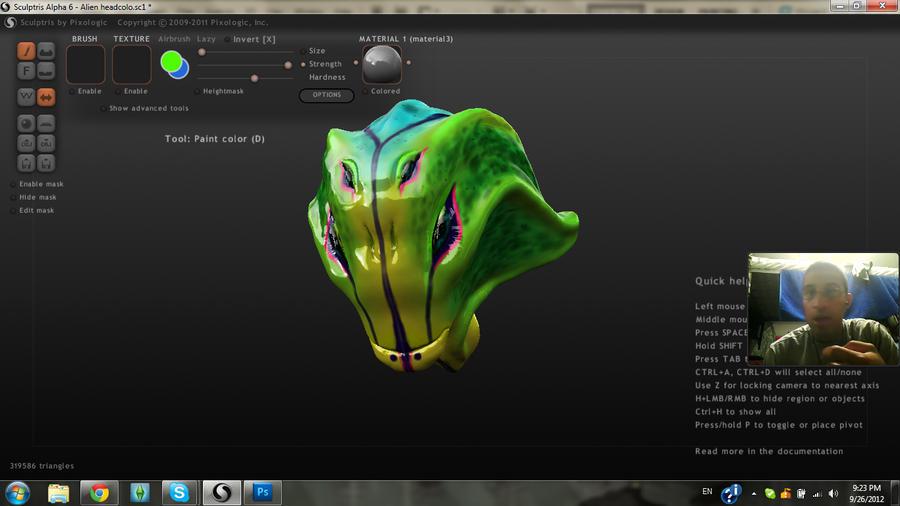 Alien head colored by MightyMaki
