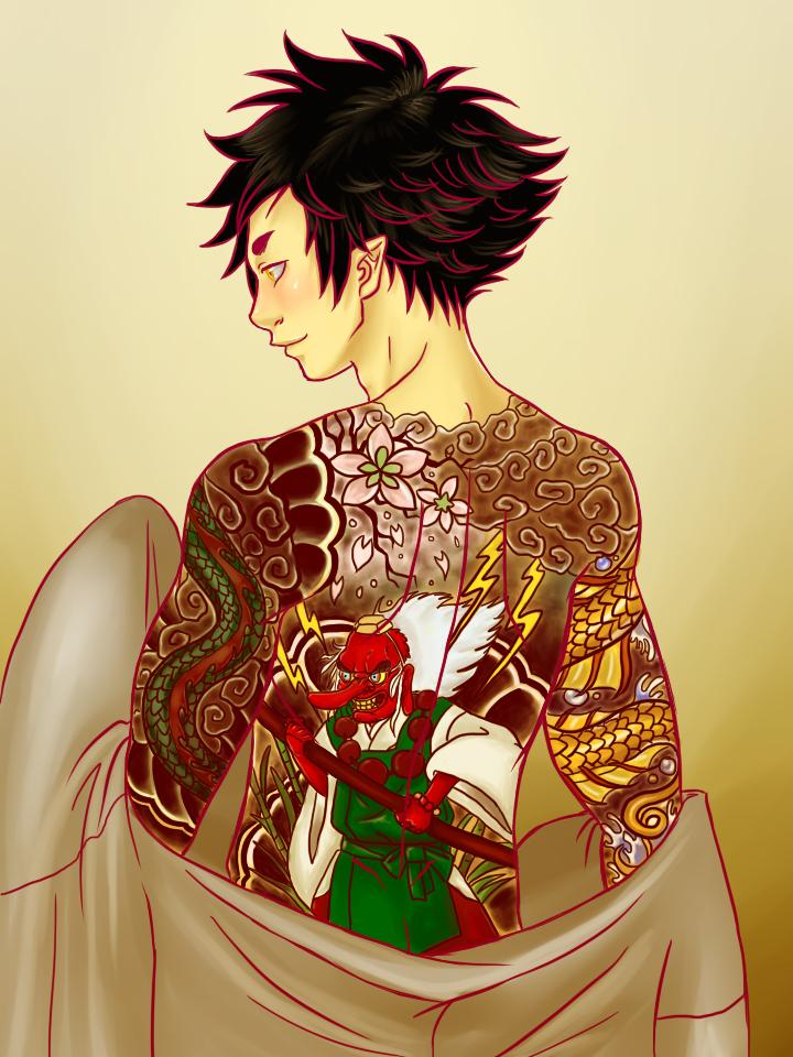 Mononoke Station || Ginko's tattoos Normal ver by MightyMaki