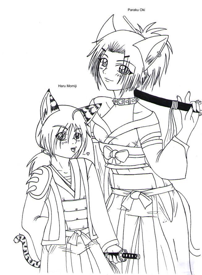 Momiji Haru and Oki Paraku by MightyMaki