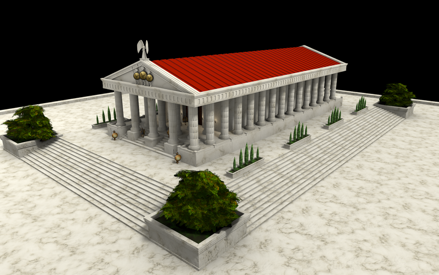 Ancient Greek Temple by EmjeR on DeviantArt
