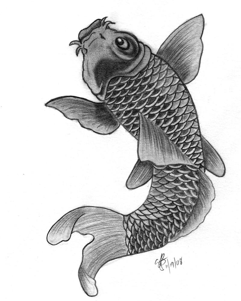 Koi fish by nexquick on deviantart for Grey koi fish