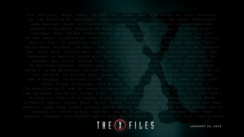the x files revival 2016 wallpaper no 3 by iamgeorge