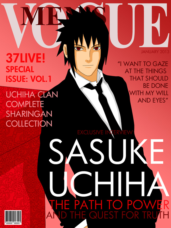 Fashion Magazine Cover: Sasuke Version by romizoh373