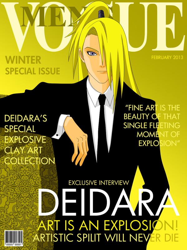 Fashion Magazine Cover: Deidara Version by romizoh373