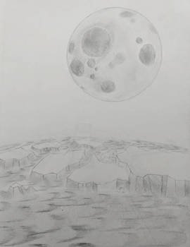 Planet and moon sketch