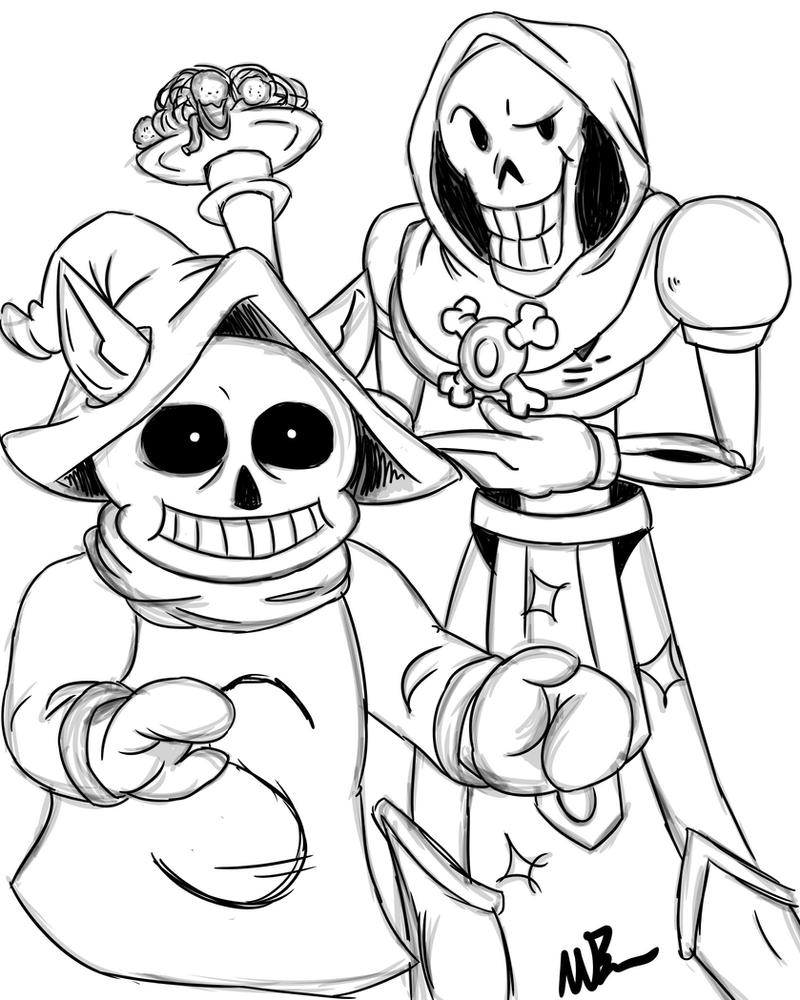 Skeletor Papyrus and Orco Sans by GingerBaribuu on DeviantArt