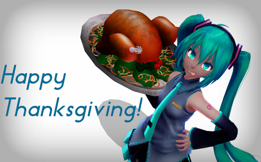 [MMD] Happy Thanksgiving! by o0Glub0o