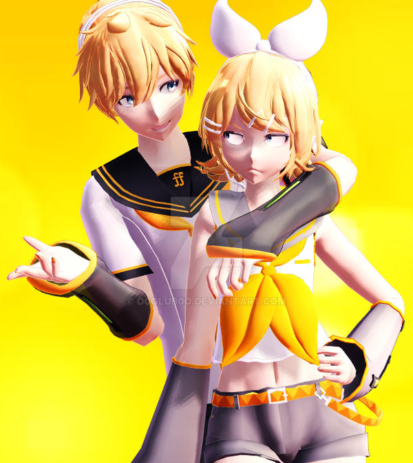 [MMD]  Sibling Love by o0Glub0o