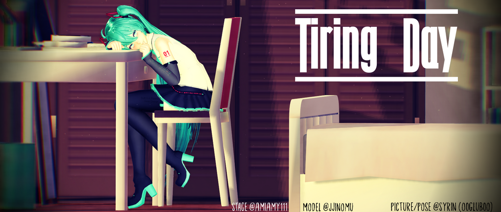 [MMD] Tiring Day #2 by o0Glub0o