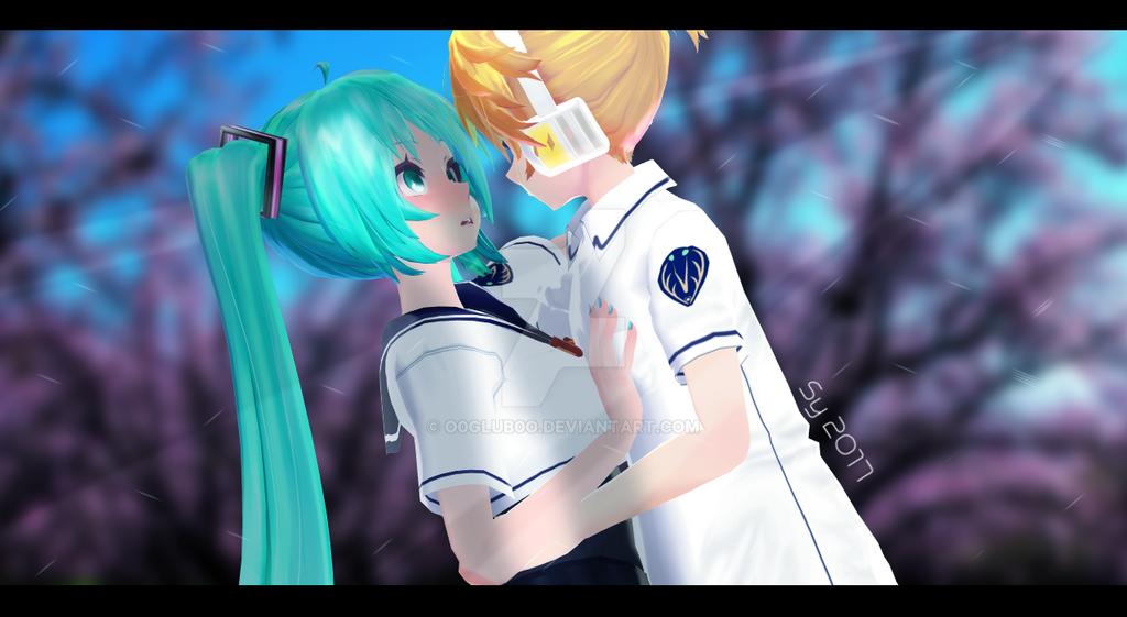 [MMD] Blue Haze {Miku x Len} by o0Glub0o