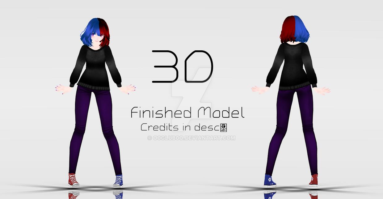 [MMD|Finished Model] 3D by o0Glub0o