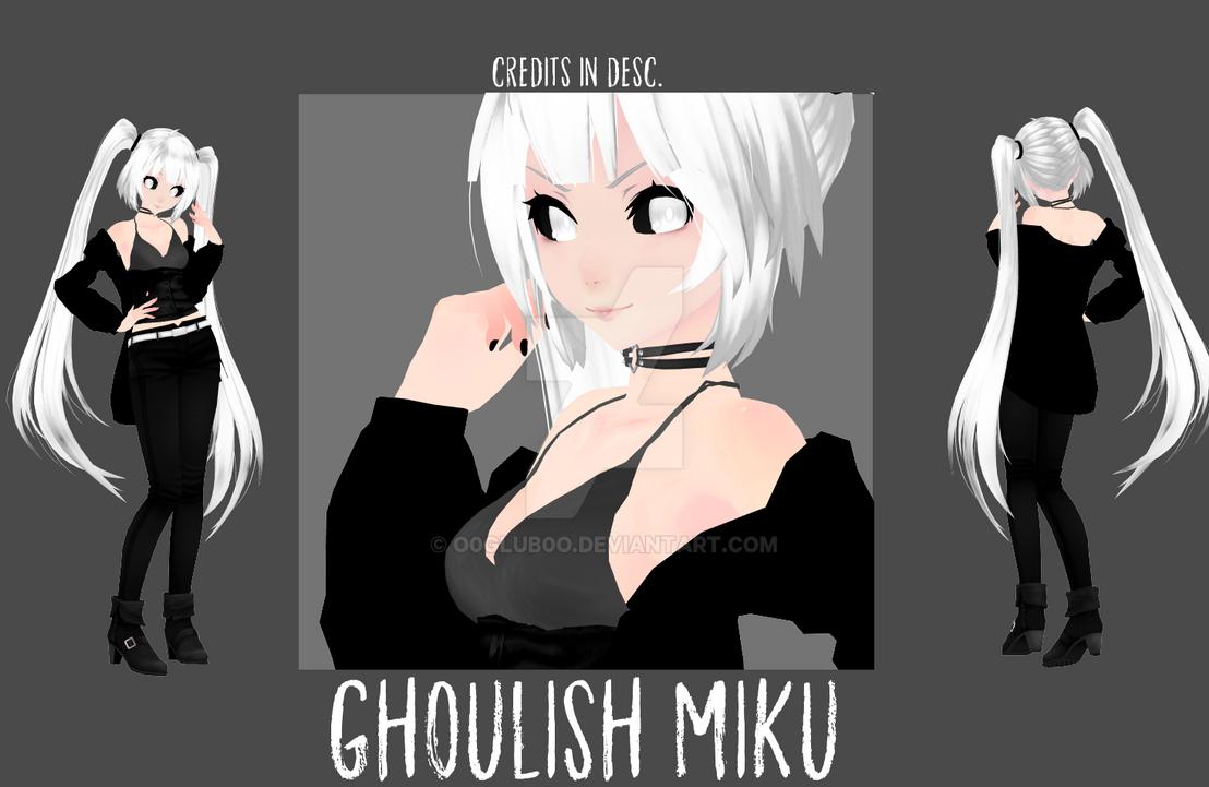 [MMD|NEW MODEL] Ghoulish Miku by o0Glub0o
