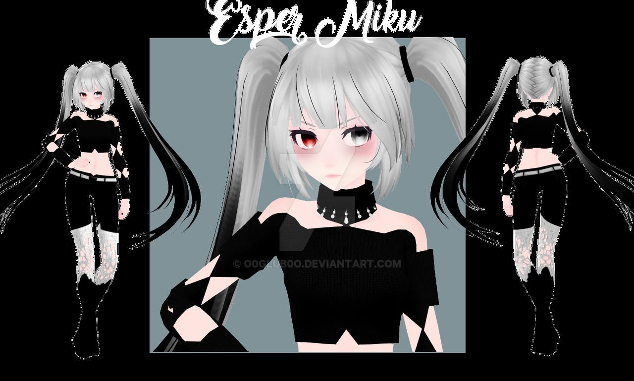 [MMD|NEW MODEL] Esper Miku by o0Glub0o