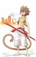 Sun Wukong in the Snow by Laharl234