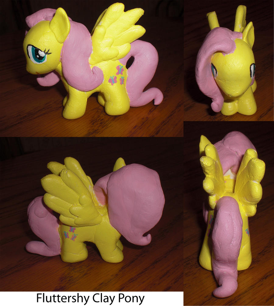 Fluttershy Clay Pony by Bunnygirl2190
