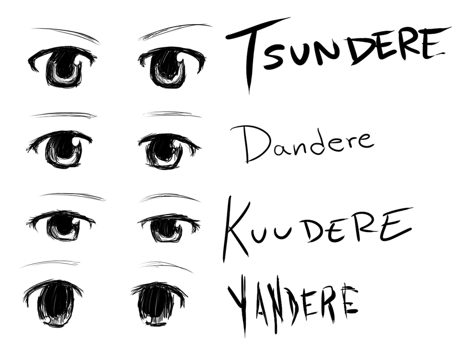 dere eyes by burntnoodles on DeviantArt