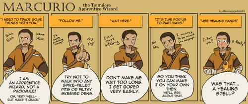 Marcurio the Tsundere Apprentice Wizard by burntnoodles