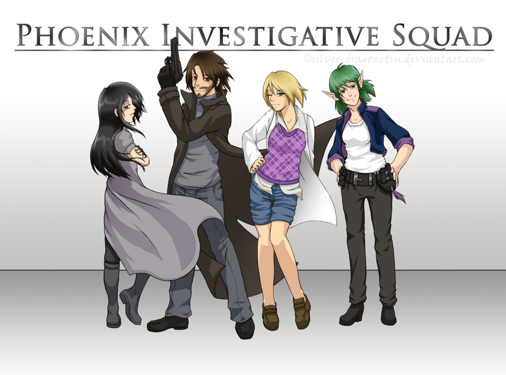 Phoenix Investigative Squad by silver-dragonetsu