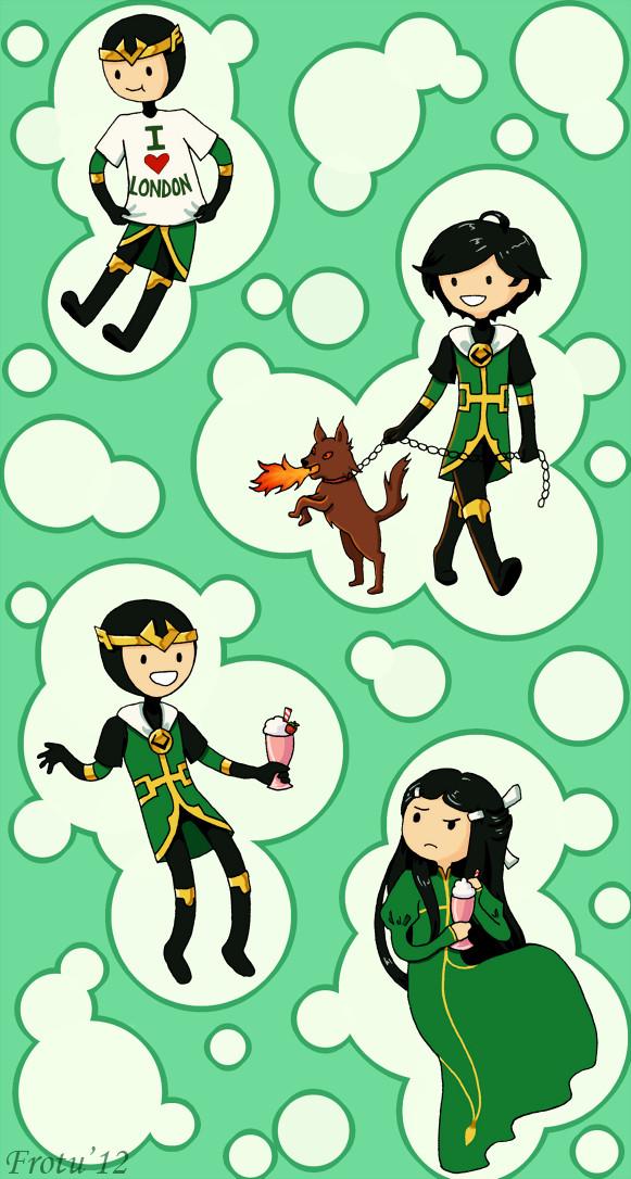 Loki and Frieeeeeends by Frotu