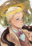 An angel and his serpent - Good Omens