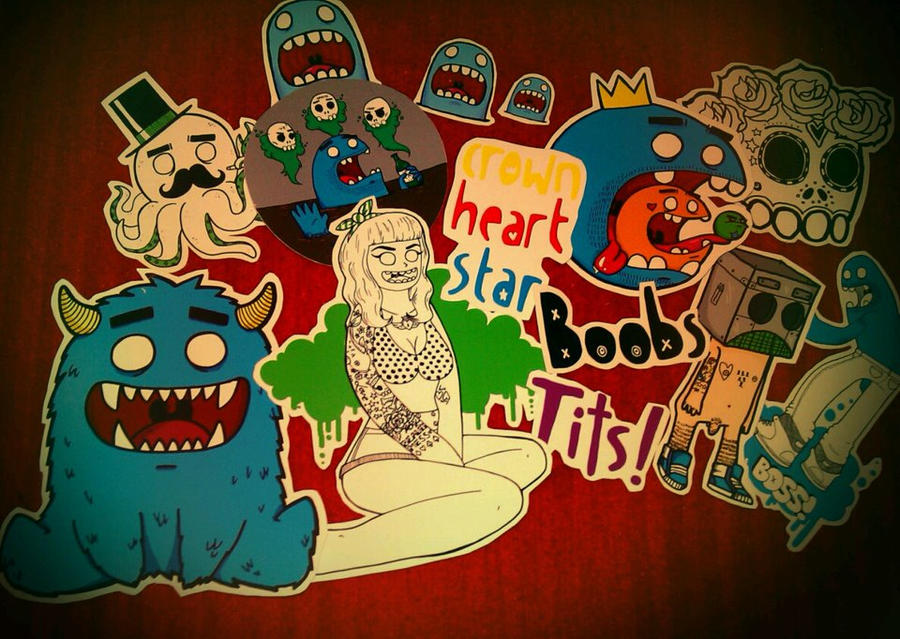 Stickers ahoy! by crownheartstar